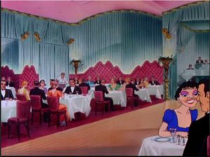 "The backdrop for the Warner Brothers cartoon ""Hollywood's Night Out"" is the beautiful Ciro's interior"