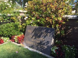 Billy Wilder's headstone at Pierce Westwood Memorial Park