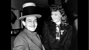 Preston Sturges and Barbara Stanwyck during the filming of The Lady Eve